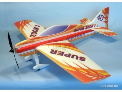 Avion Hacker model Super Zoom 3 rouge ARF env.1.00m