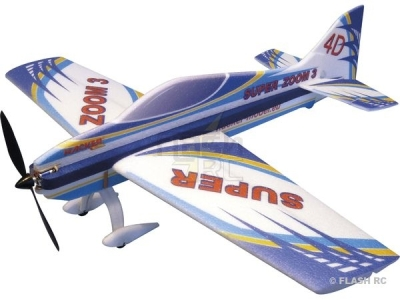 Avion Hacker model Super Zoom 3 bleu ARF env.1.00m