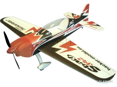 Avion Hacker model Sbach 342 rouge ARF env.1.20m