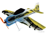 Avion RC Factory Crack Yak Lite Series bleu/jaune env.0.80m