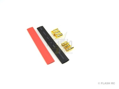 Prise OR 6mm DB6 M/F (3 paires) + gaine thermo