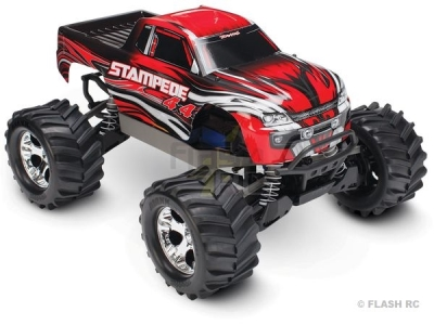 Traxxas Stampede Rouge 4WD Brushed Radio TQ 2.4Ghz RTR 67054-1
