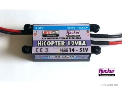 Switch Bec 8A - 12V - HiCopter Jeti