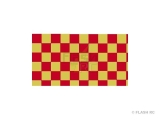 Aerokote 80x200cm damier (5cm) rouge clair or