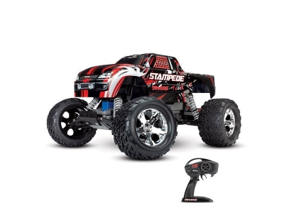 Traxxas Stampede Rouge 2WD Brushed Radio TQ & ID RTR 36054-1-RED
