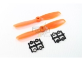 Hélices fibre SF 5x4,5 demi bullnose orange Gemfan (2 pcs)