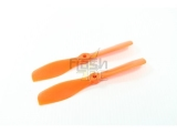 Hélices fibre SF 5,5x5 R demi bullnose orange Gemfan (2 pcs)