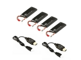 Hubsan H502S Battery Pack (4 batteries + 2 chargeurs USB)