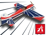 Avion Aeroplus RC Slick 540 35cc 76'' bleu/rouge ARF env.1.92m