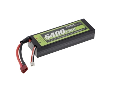 Batterie Lipo 2S 7.4V 5400mAh 45C Deans Hard Case Monstertronic