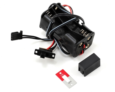 Traxxas battery holder, 4-cell /switch 3170X