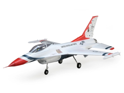 Jet E-flite F-16 Thunderbirds 70mm EDF BNF Basic AS3X / Safe Select env.0.81m