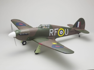 Avion Kyosho Hawker Hurricane SQS 50 ARF env.1.52m