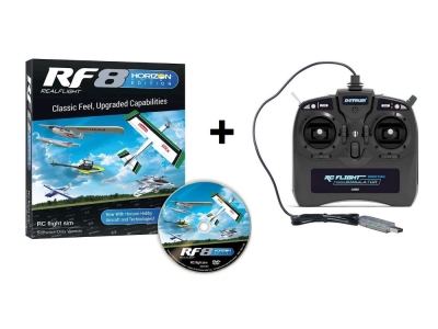 Simulateur RealFlight 8.0 Horizon Edition avec radio 8 voies Dynam Mode 1