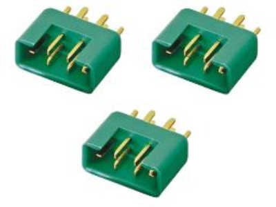 Prise MPX 6 pins male (x3) M6 50A originale MULTIPLEX