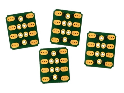 MPX PCB 90° 6 broches (4 pcs) Emcotec
