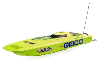 Bateau Miss GEICO Zelos 36 Twin Brushless RTR PROBOAT