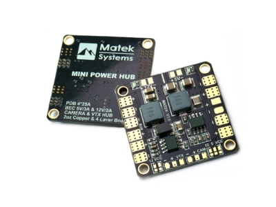 Carte de distribution quad 3-6S et bec 12V-5V Matek Systems