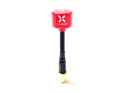 Set 2x Antennes Lollipop 3 rouge 5,8GHz omnidirectionnelle 2.5DBi (RP-SMA)
