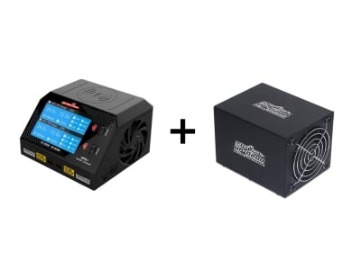Pack Déchargeur D200 + Chargeur UP6+ Duo 2X300W 12V/220V Ultra Power
