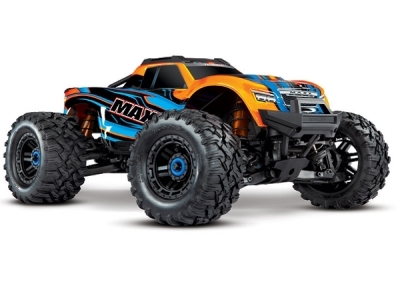 Traxxas Maxx 4S Brushless 4WD Orange AVEC LEDS TQi TSM RTR - 89076-4