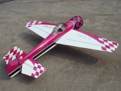Avion East Rc Model Yak55M 74 30cc mauve/blanc ARF 1.85m