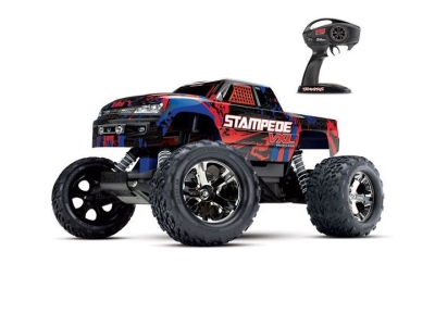Traxxas Stampede 2WD Rouge VXL ID TSM RTR (Sans accu/chargeur) 36076-4