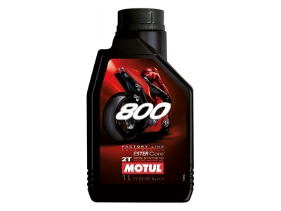 Huile 100% synthétique motul 800 2 temps Factory 100% synthèse