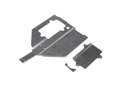 LOSI - Chassis & Motor Cover Plate: Super Baja Rey