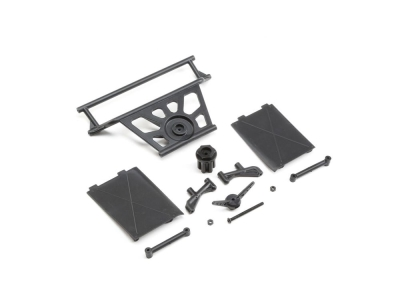 LOSI - Cage Rear, Tower Supports,Mud Guards: SuperRockRey