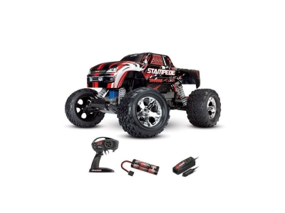 Traxxas Stampede Rouge 2WD Brushed Radio (avec accus / chargeur)