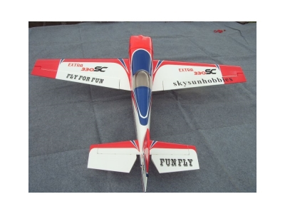 Avion East Rc Model Extra 330SC 5870e bleu-rouge- ARF 1.46m