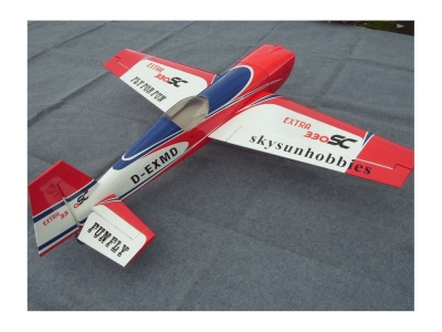 Avion East Rc Model Extra 330SC 89 50cc blanc-rouge ARF 2.26m