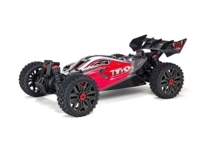 ARRMA 1/8 TYPHON 3S BLX Brushless 4WD Buggy RTR, rouge