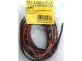 Cable souple silicone cuivre 0,5mm² rouge - 1m Muldental