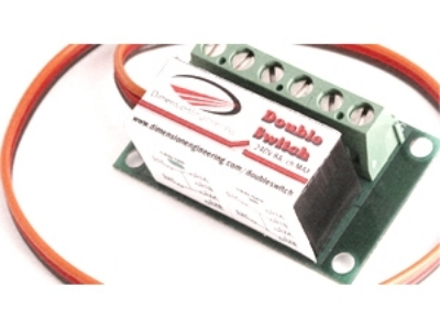 DoubleSwitch relais double 2x8A commandable par R/C